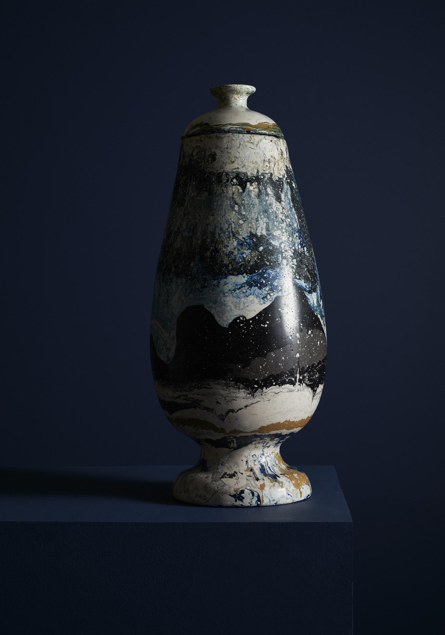 """Hilda Hellström, urn, """"Sedimentations"""" series, 2014."""