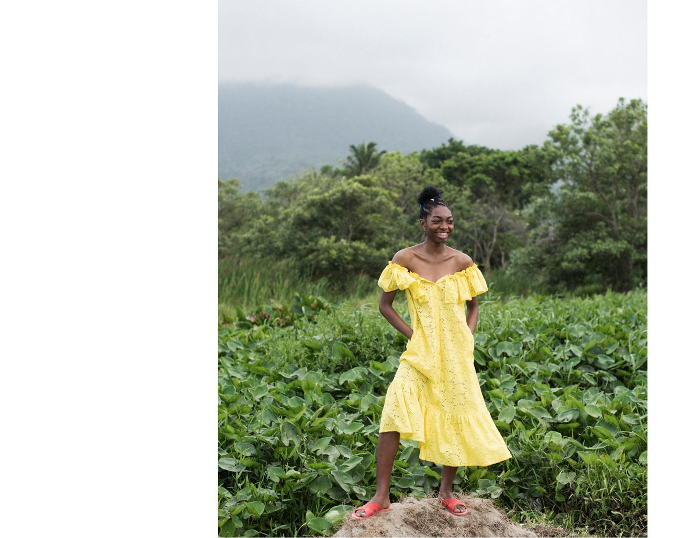 Dress by Lisa Marie Fernandez.