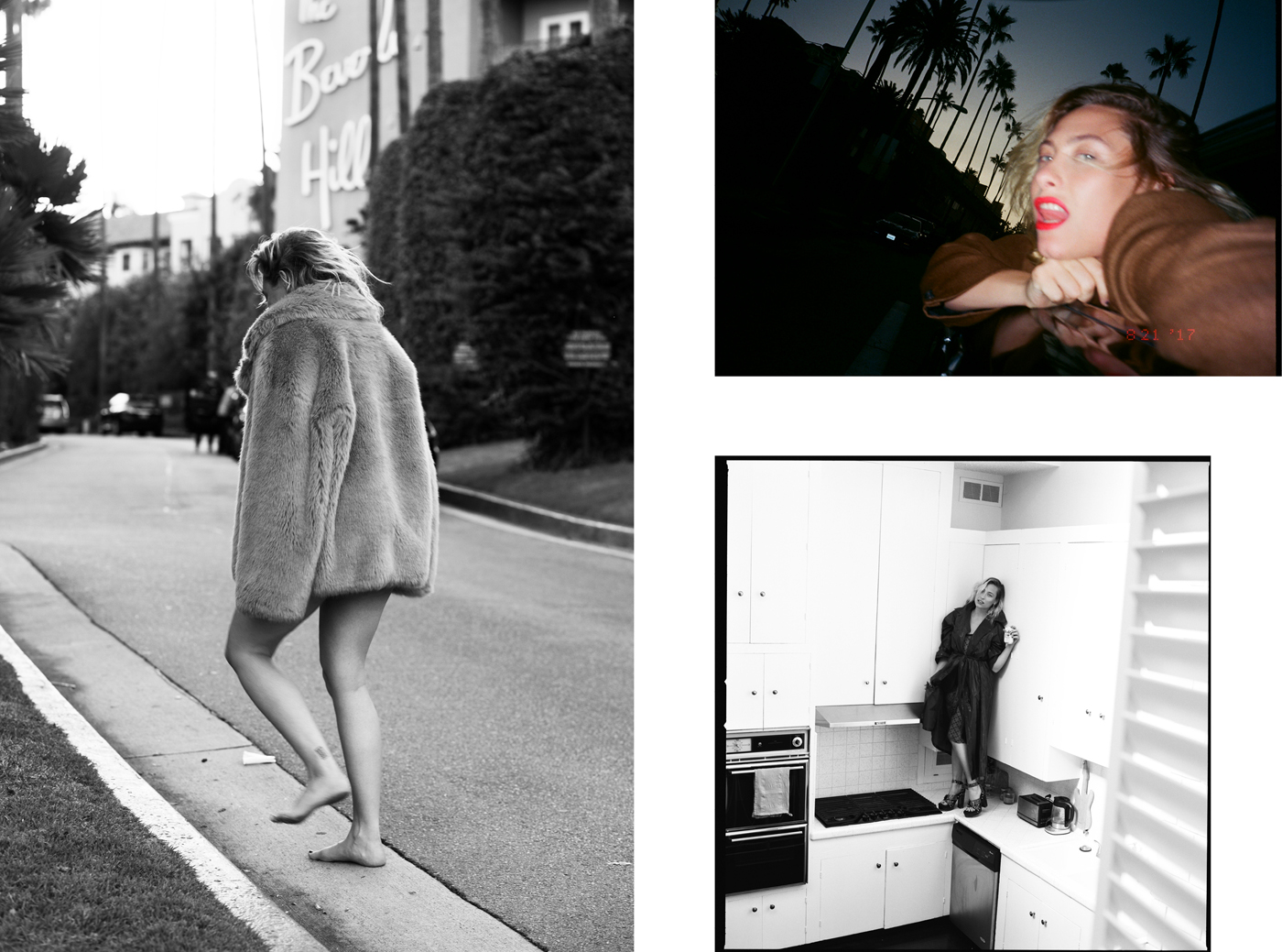 Clockwise from left: Coat by Diane von Furstenberg.Jacket by Jil Sander.All clothing by Joseph. Shoes by Adam Selman.