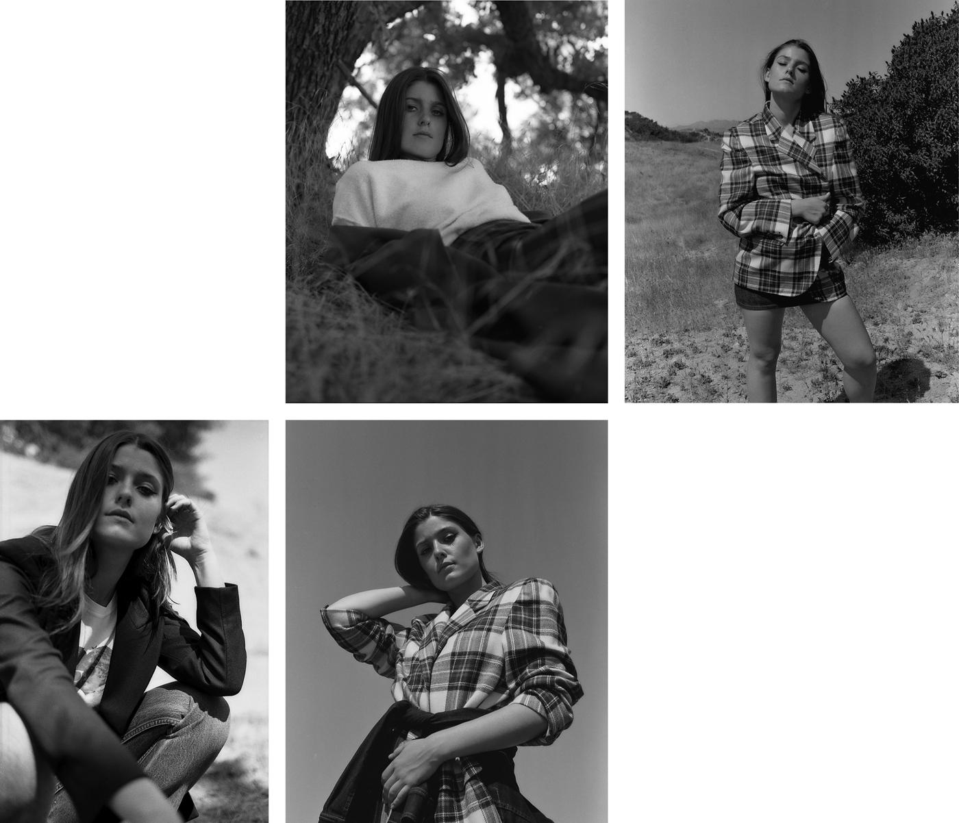 Clockwise from top left: Coat by Jil Sander. Sweatshirt by Fiorucci. Vintage skirt.Vintage jacket by Alan Austin. Skirt by A.P.C.Vintage jacket by Alan Austin. Jacket, tied around waist, by Stella McCartney. Skirt by A.P.C.Jacket by Stella McCartney. T-shirt by Fiorucci. Vintage jeans by Levi's.