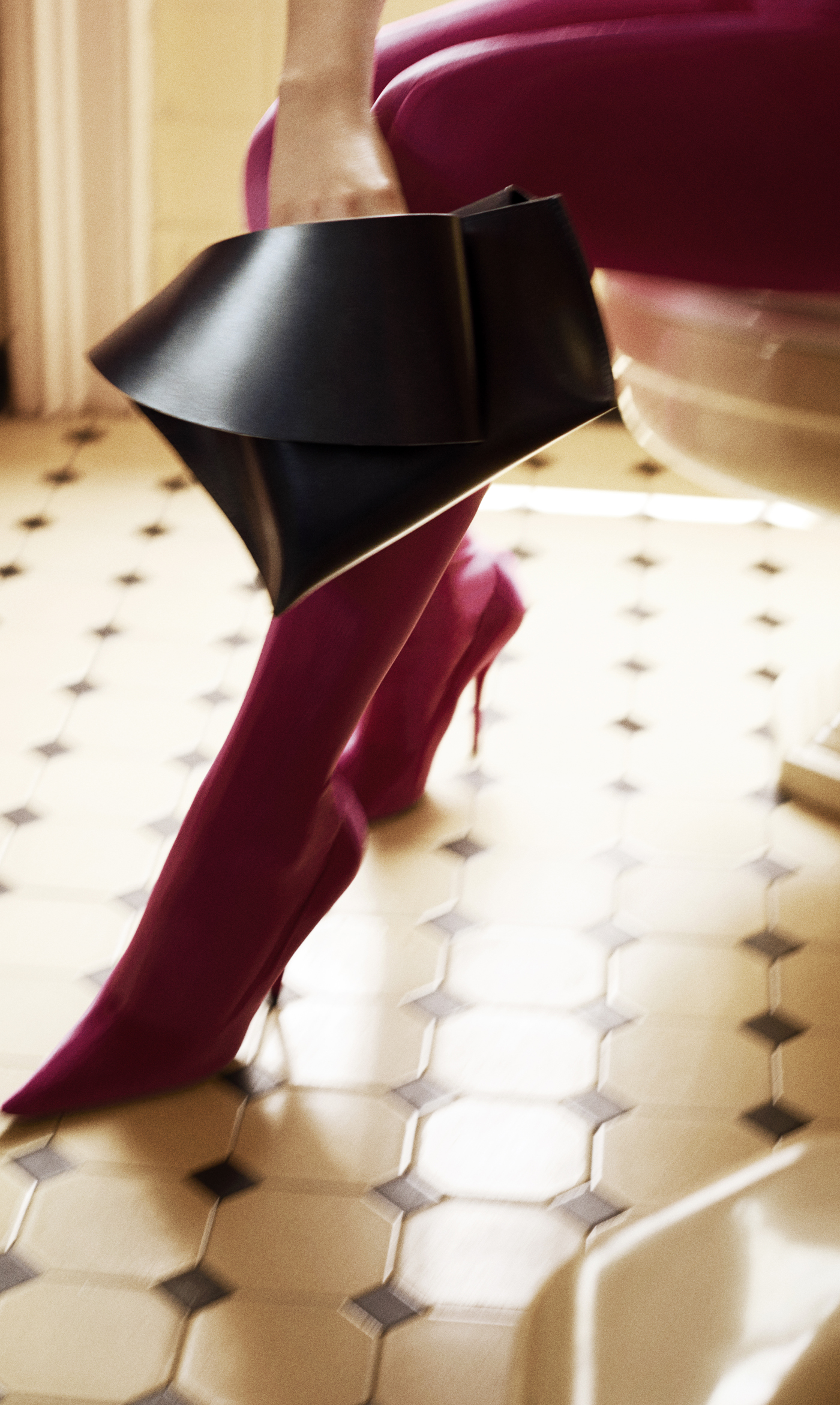 Boots by Balenciaga.