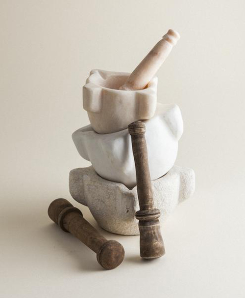 Marble Mortar Set
