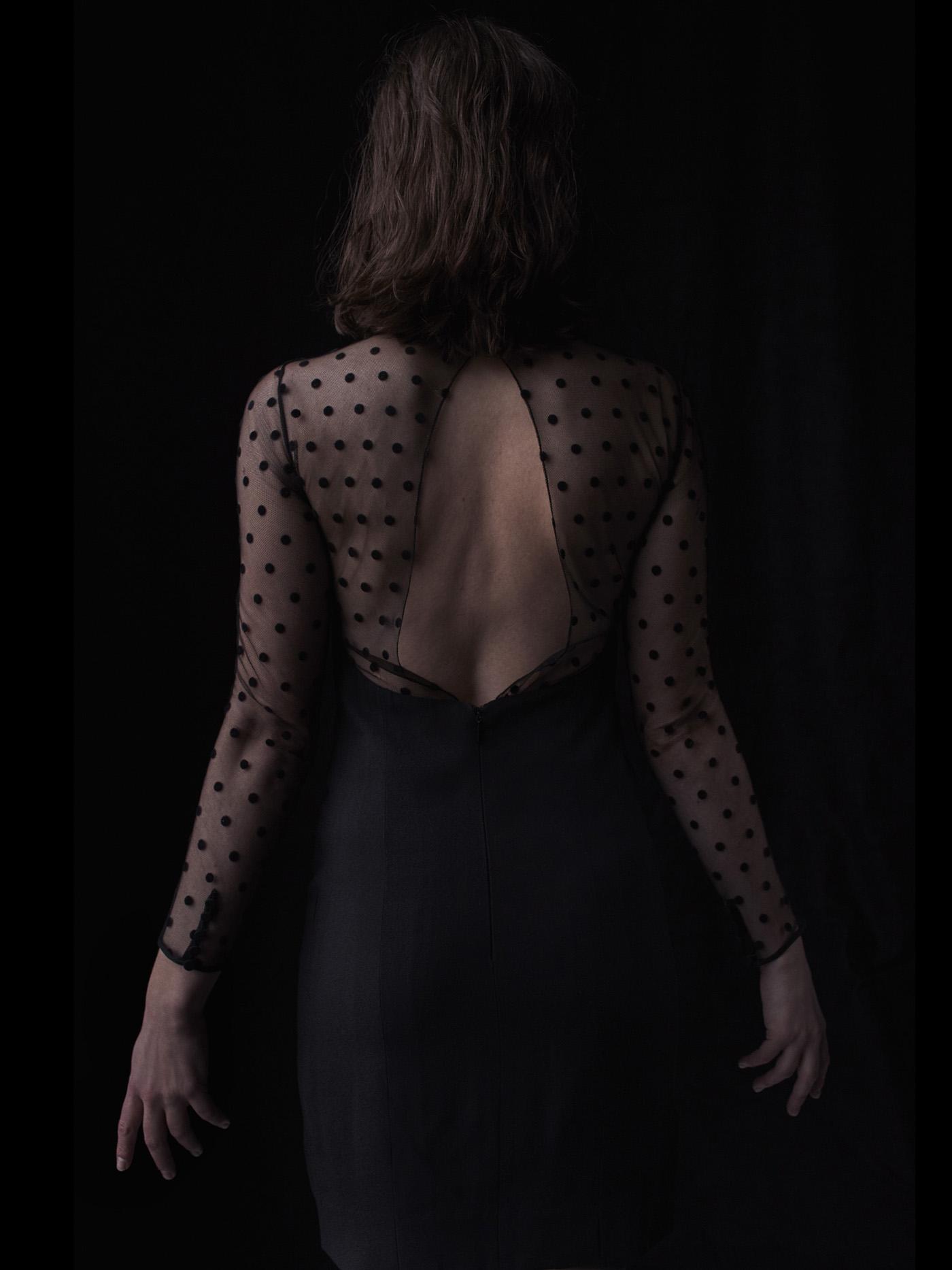 Vintage dress by Saint Laurent.