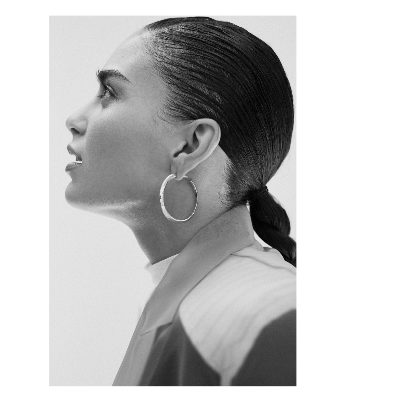 All clothing by Kimhēkim from Need Supply Co., Los Angeles. Earrings by Eddie Borgo from Assembly Los Angeles.