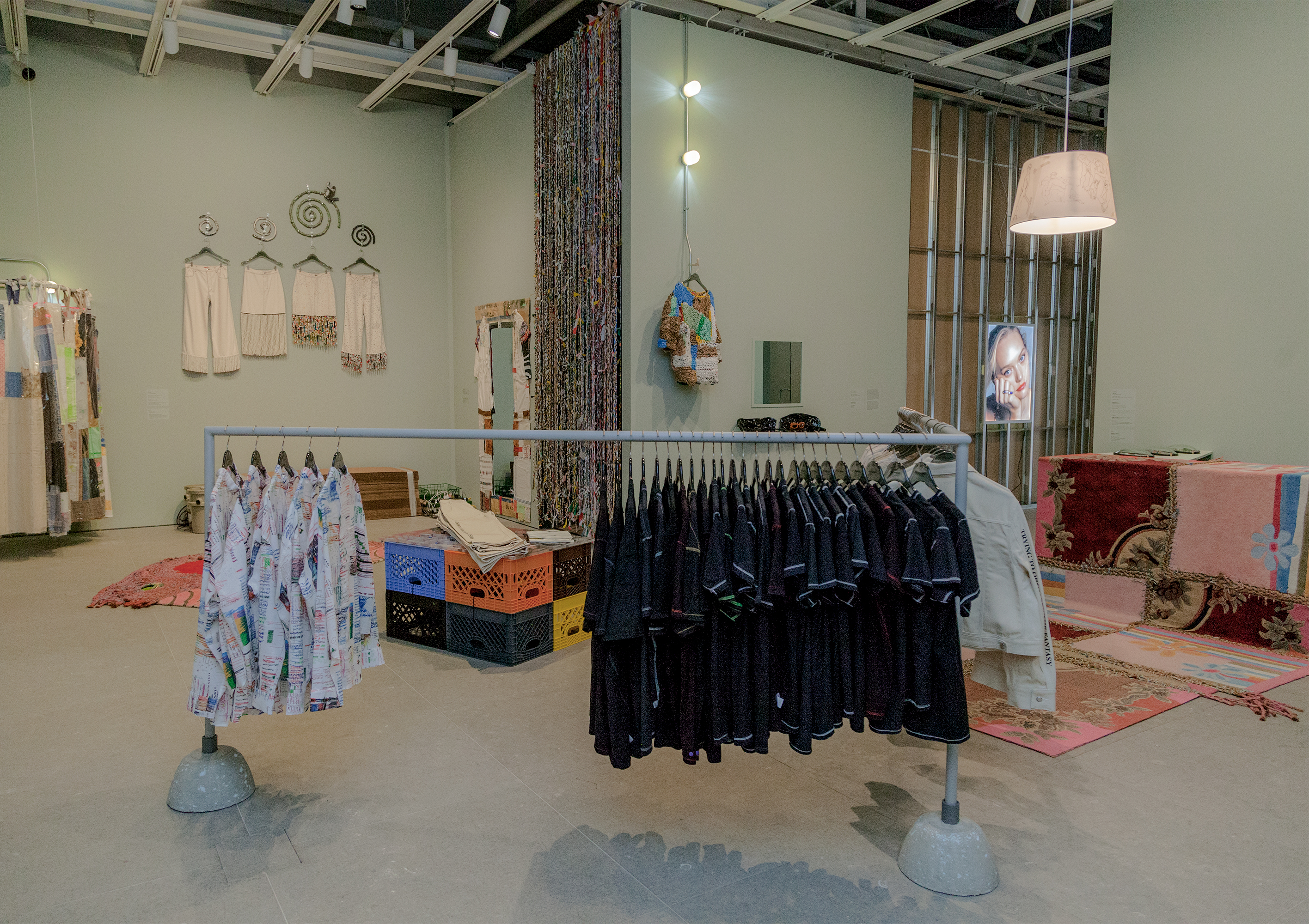 "Installation view of ""Eckhaus Latta: Possessed"" (Whitney Museum of American Art, New York, August 3-October 8, 2018)."