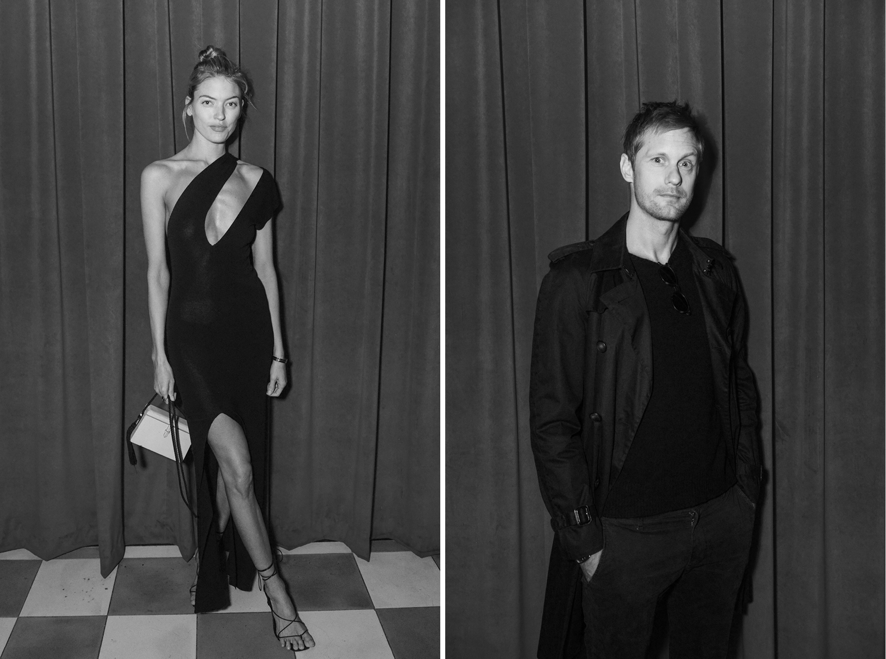 Left: Martha HuntRight: Alexander Skarsgård