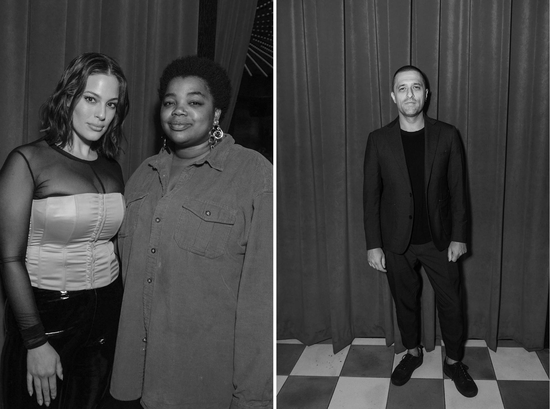 Left: Ashley Graham and Gabriella Karefa-JohnsonRight: Ben Pundole